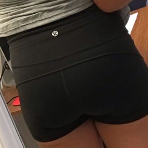 Lululemon Athletica Dark Olive Boogie Shorts